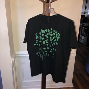 Happy St. Patricks day 2XL Black T-Shirt  Unisex